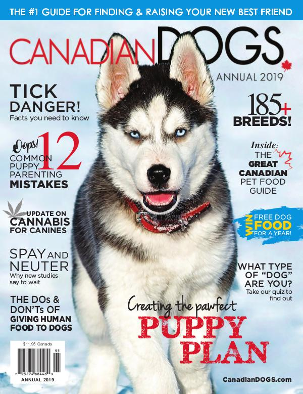 Advertising Magazine Samples Canadian Dogs Annual 2019