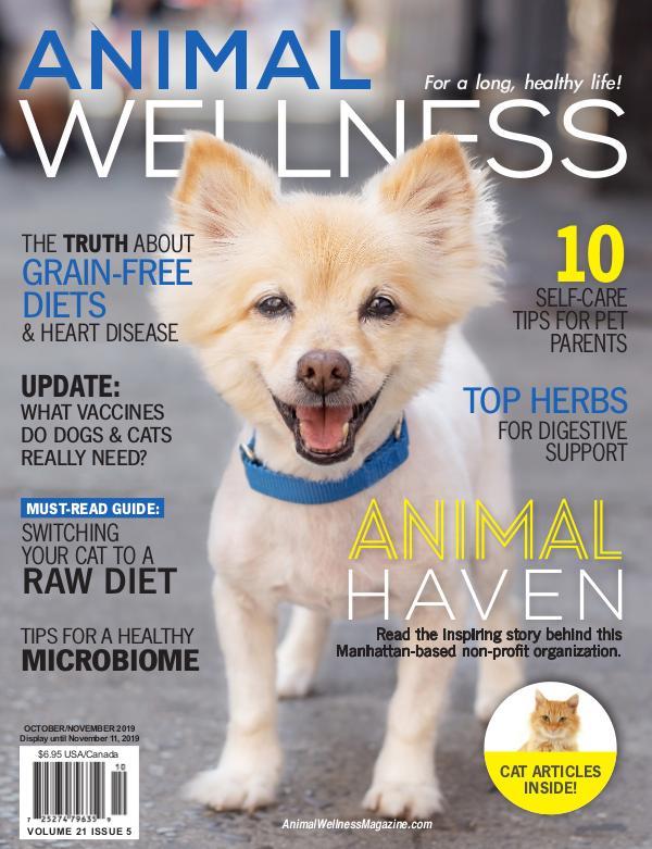 Advertising Magazine Samples Animal Wellness Oct/Nov 2019