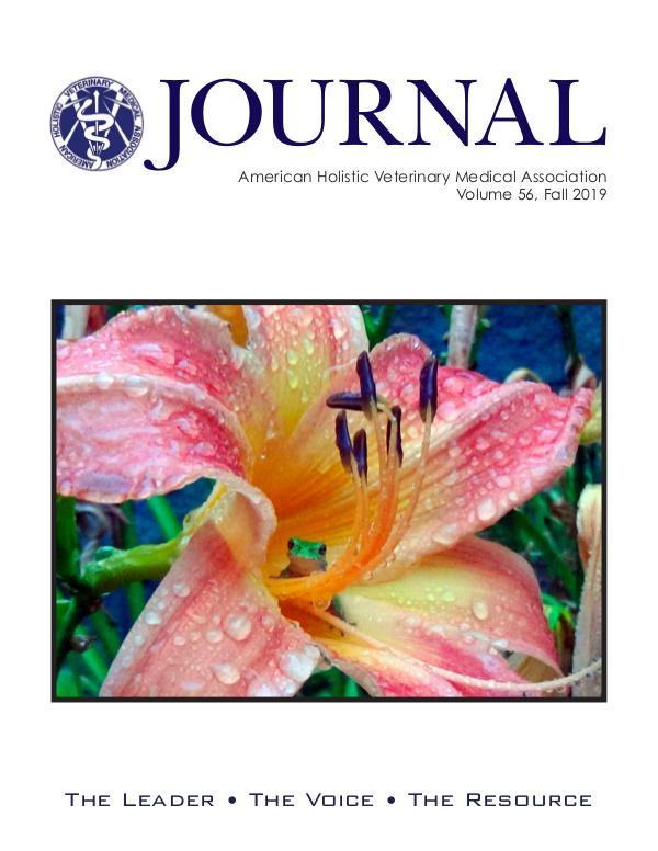 Advertising Magazine Samples AHVMA Journal Vol. 56 - Fall 2019