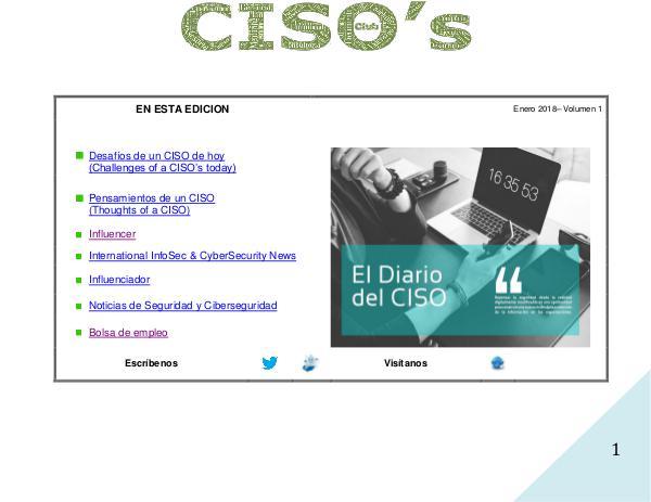 El Diario del CISO Volumen 1 2018