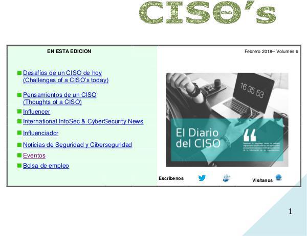 El Diario del CISO Volumen 6 2018