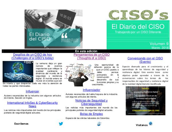 El Diario del CISO (The CISO Journal) Edición 9 2018