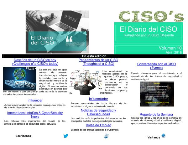 El Diario del CISO (The CISO Journal) Edición 10 2018