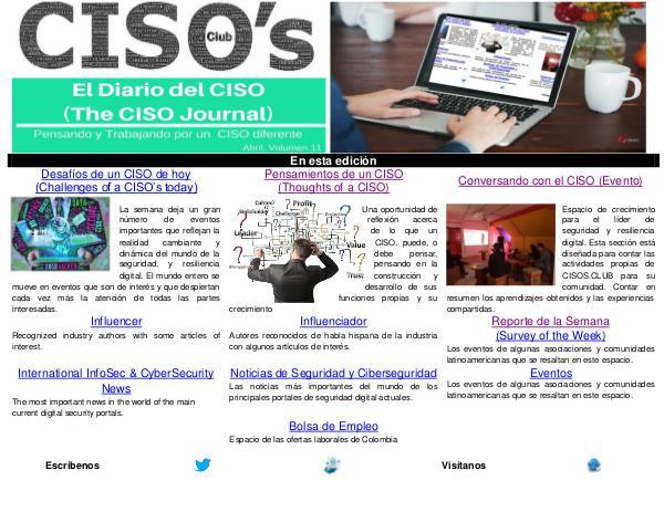El Diario del CISO (The CISO Journal) Edición 11 2018