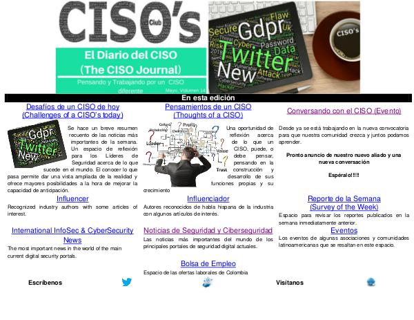 El Diario del CISO (The CISO Journal) Edición 14