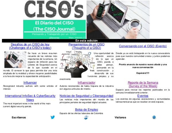 El Diario del CISO (The CISO Journal) Edición 17