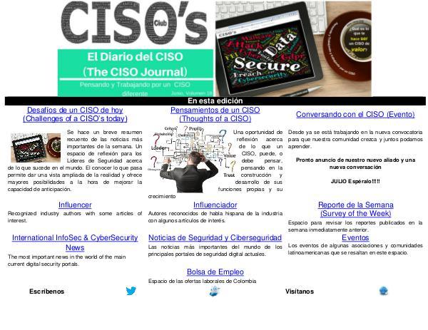El Diario del CISO (The CISO Journal) Edición 18