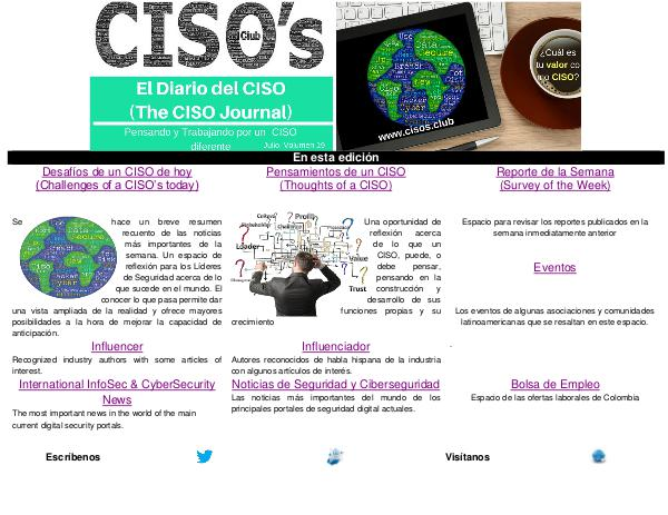 El Diario del CISO El Diario del CISO (The CISO Journal) Edición 19