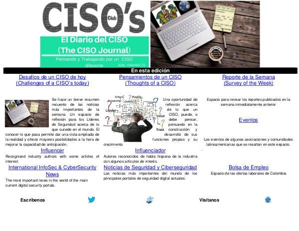 El Diario del CISO (The CISO Journal) Edición 21