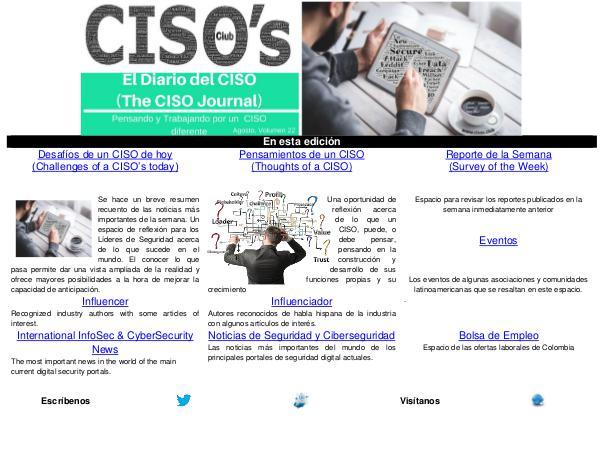 El Diario del CISO El Diario del CISO (The CISO Journal) Edición 22
