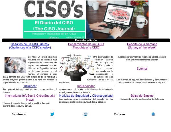 El Diario del CISO El Diario del CISO (THE CISO JOURNAL) EDICIÓN 23