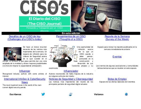 El Diario del CISO El Diario del CISO (The CISO Journal) Edición 24