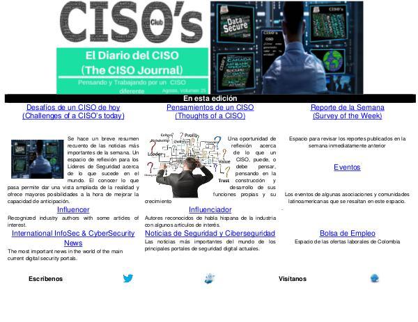 El Diario del CISO El Diario del CISO (The CISO Journal) Edición 25