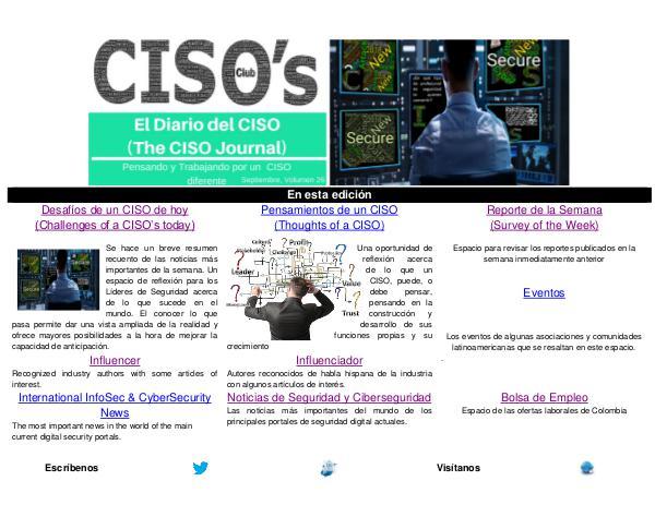 El Diario del CISO El Diario del CISO (The CISO Journal) Edición 26