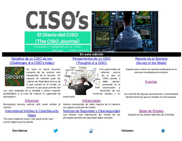 El Diario del CISO El Diario del CISO (The CISO Journal) Edición 27