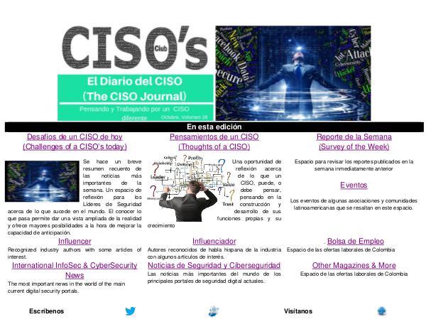 El Diario del CISO El Diario del CISO (The CISO Journal) Edición 28