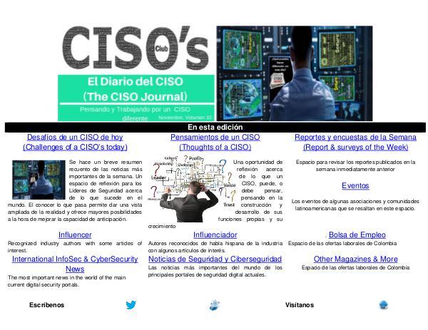 El Diario del CISO (The CISO Journal) Edición 32