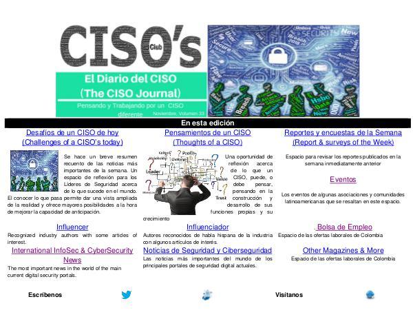 El Diario del CISO (The CISO Journal) Edición 33