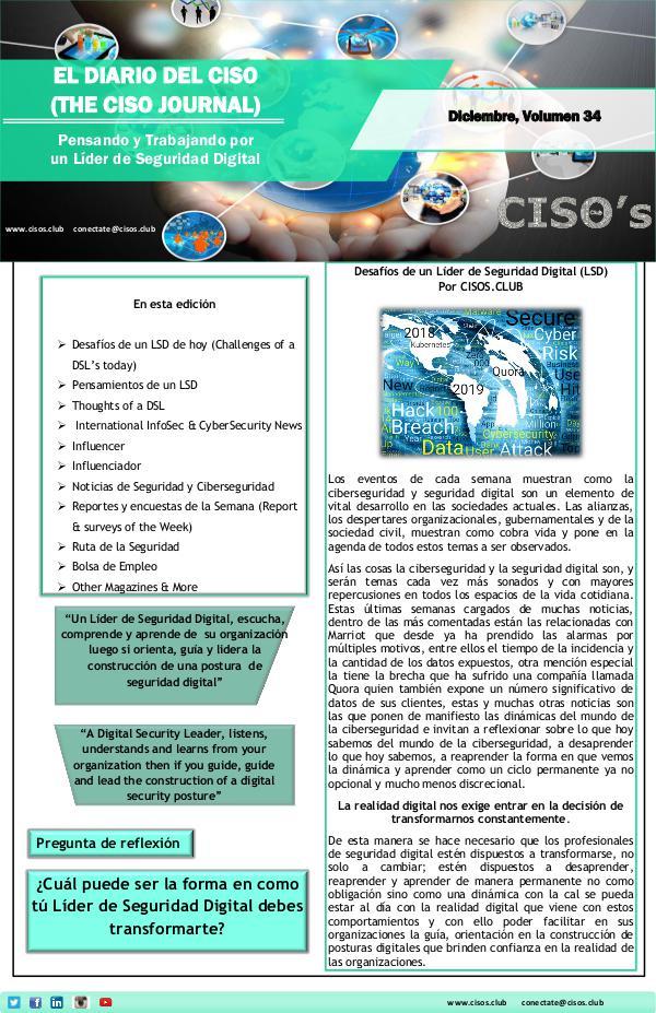 El Diario del CISO (The CISO Journal) Edición 34