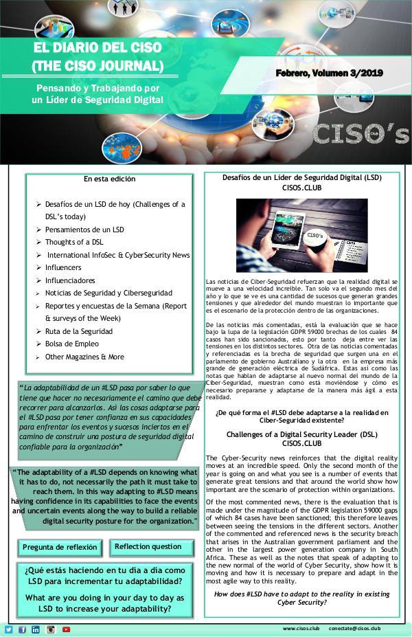 El Diario del CISO El Diario del CISO (The CISO Journal) Edición 3