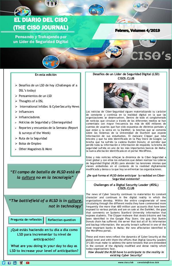 El Diario del CISO (The CISO Journal) Edición 4