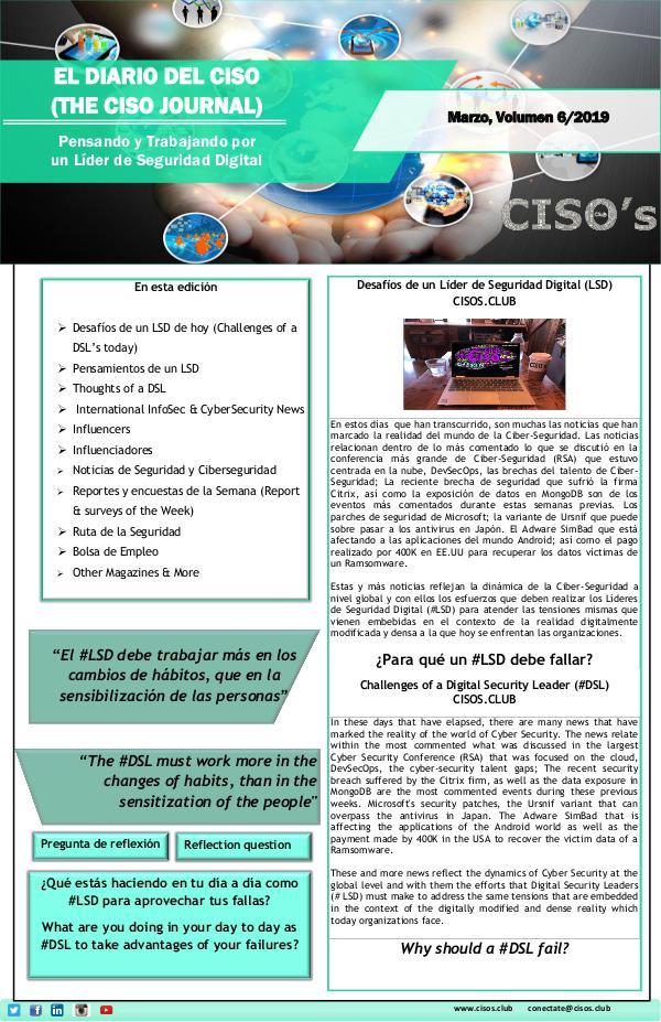 El Diario del CISO El Diario del CISO (The CISO Journal) Edición 6
