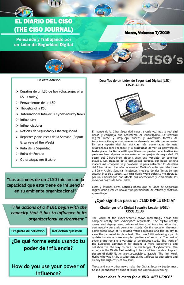 El Diario del CISO El Diario del CISO (The CISO Journal) Edición 7