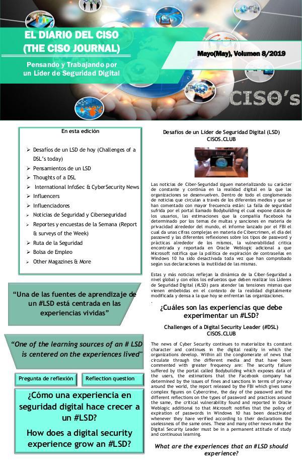 El Diario del CISO El Diario del CISO (The CISO Journal) Edición 8