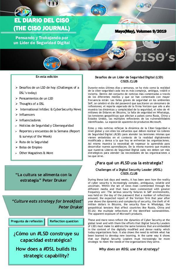 El Diario del CISO El Diario del CISO (The CISO Journal) Edición 9