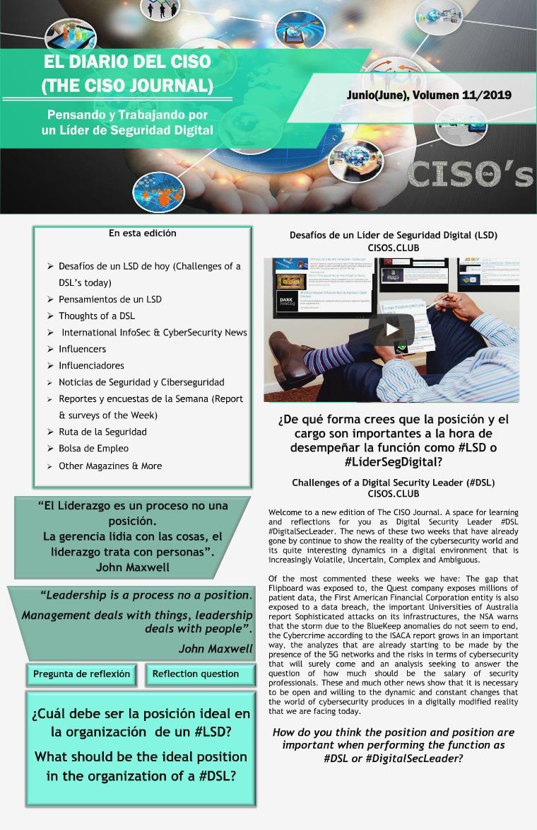 El Diario del CISO El Diario del CISO (The CISO Journal) Edición 11