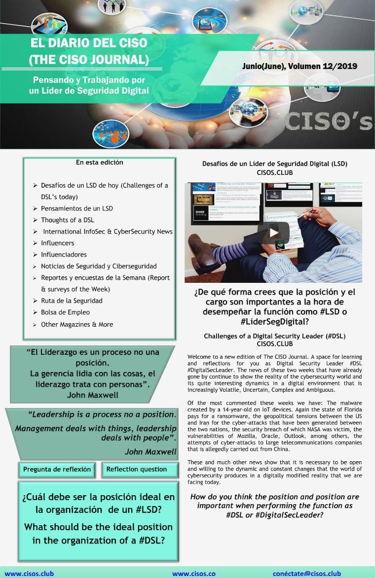 El Diario del CISO El Diario del CISO (The CISO Journal) Edición 12