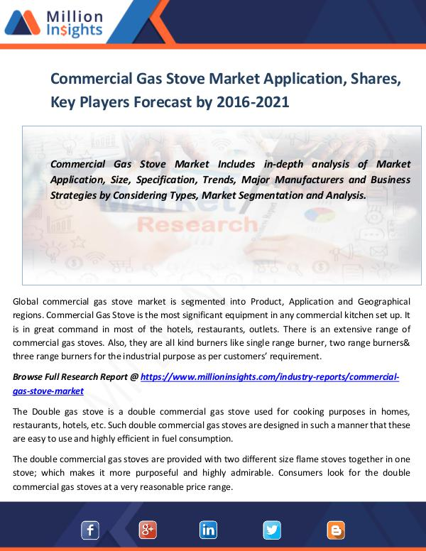 Commercial Gas Stove Market