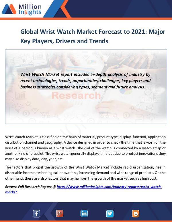 Global Wrist Watch Market