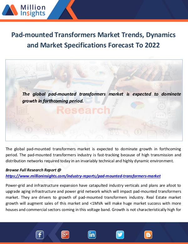 Market World Pad-mounted Transformers Market Trends