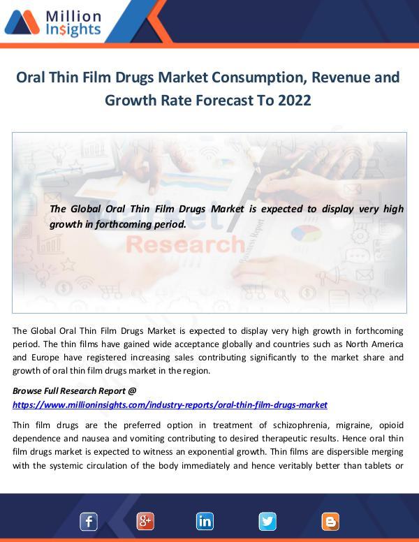 Oral Thin Film Drugs Market Consumption