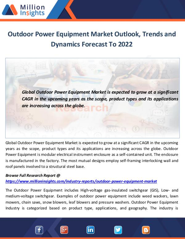 Outdoor Power Equipment Market Outlook