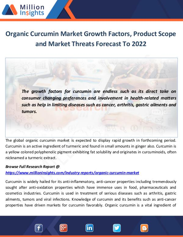 Organic Curcumin Market Growth