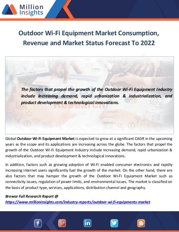 Outdoor Wi-Fi Equipment Market
