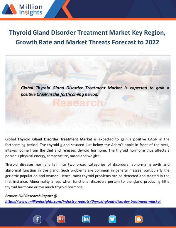 Market World Thyroid Gland Disorder Treatment Market Key Region