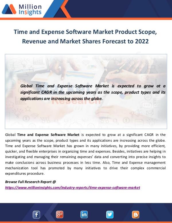 Time and Expense Software Market Scope