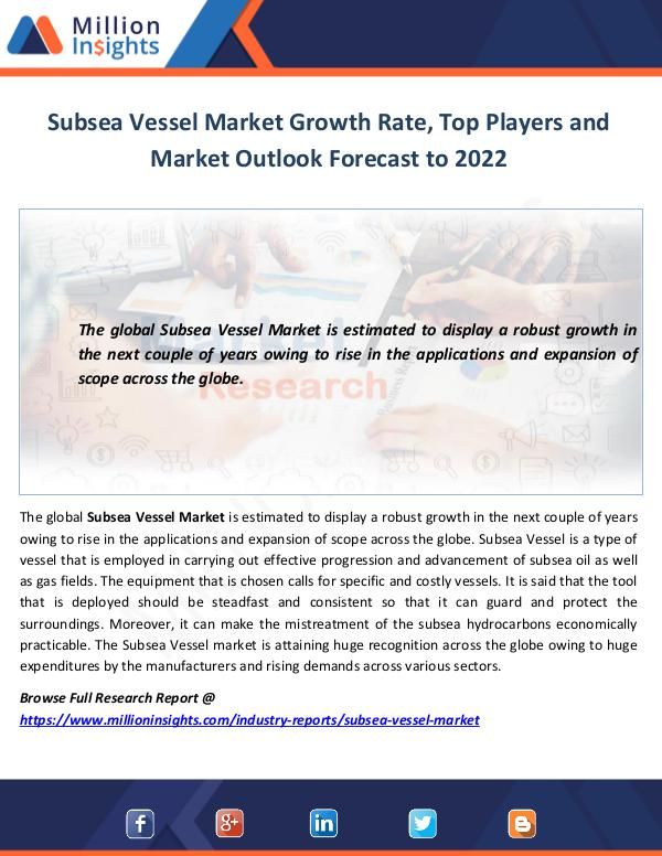 Market World Subsea Vessel Market Growth