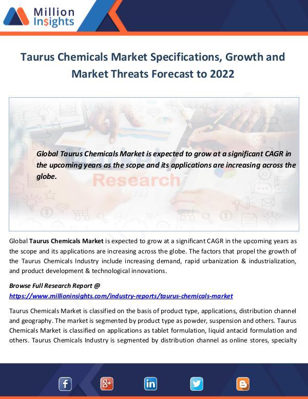 Market World Taurus Chemicals Market Specifications