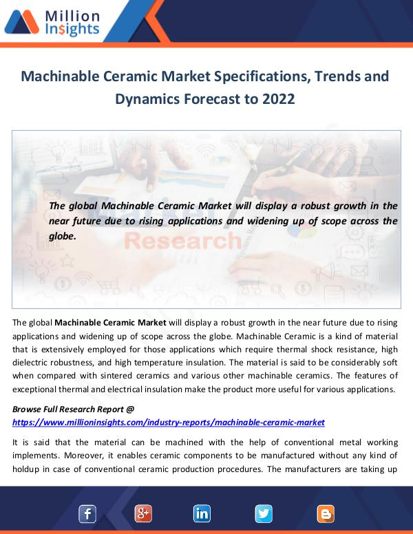 Market World Machinable Ceramic Market