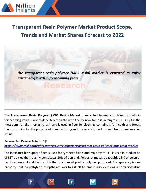 Transparent Resin Polymer Market