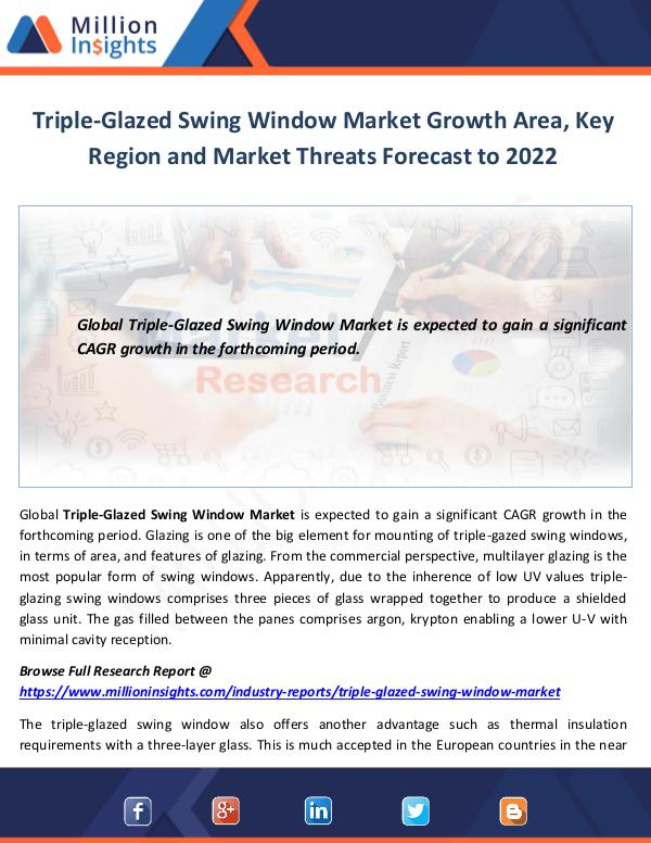 Triple-Glazed Swing Window Market Growth
