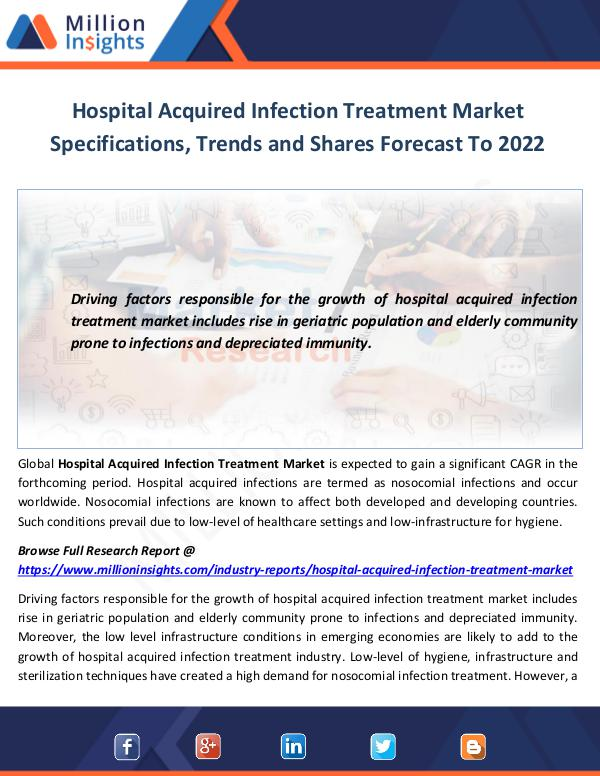 Hospital Acquired Infection Treatment Market