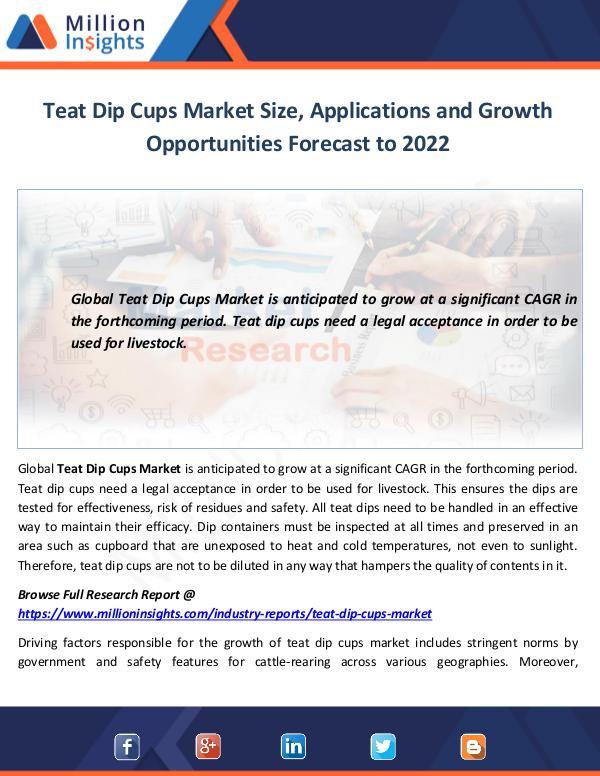 Teat Dip Cups Market Size