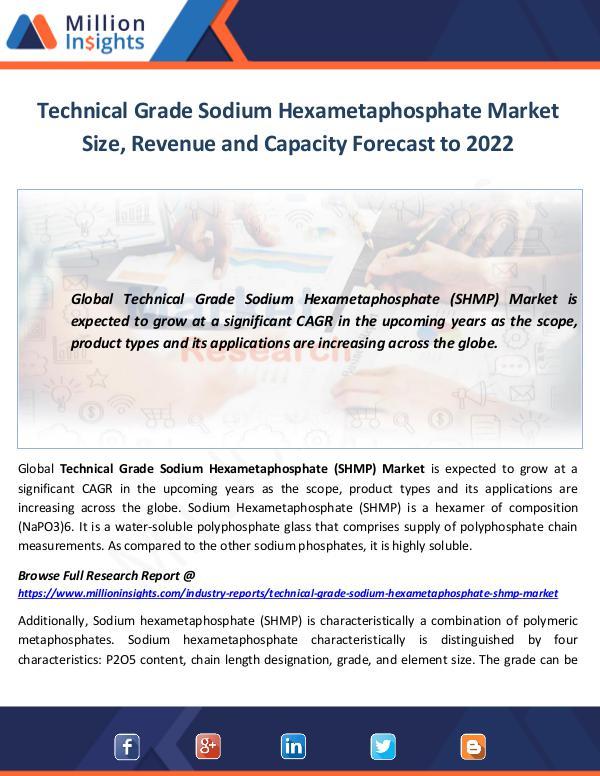 Market World Technical Grade Sodium Hexametaphosphate Market