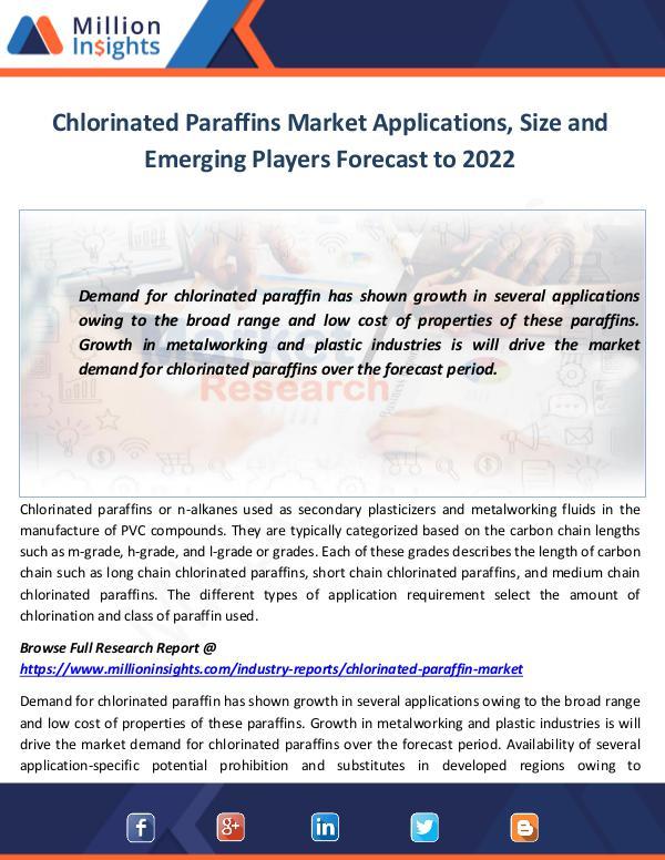 Chlorinated Paraffins Market Applications