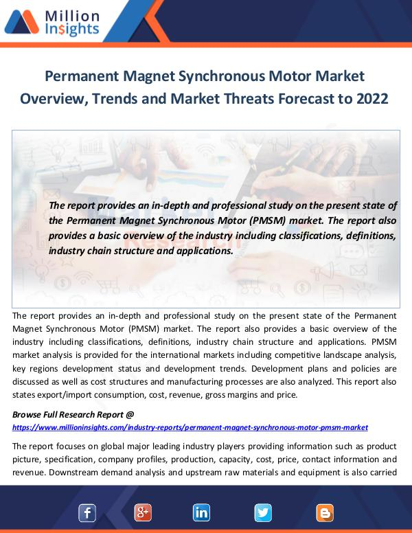 Permanent Magnet Synchronous Motor Market Overview